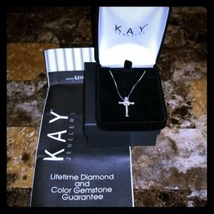 Brand New Sterling Silver Cross Necklace